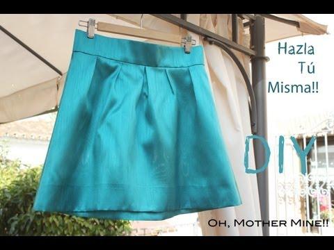 DIY Como hacer y coser una falda plisada o tableada