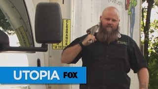 THE OUTSIDE -- Meet Utopia's newest plumber and master of facial hair art -- plus, his wife and all his pets. He's got a pitbull named Cash! What are the chances?!Tune in TONIGHT at 8/7c, or catch full episodes over at FOX NOW.Subscribe now for more Utopia clips: http://utopia.ly/SubscribeUtopiaWatch Full Episodes of Utopia: http://smarturl.it/utopiatvSee more of Utopia on our official site: http://utopia.ly/UtopiaTV Like Utopia on Facebook: http://utopia.ly/Utopia_FBFollow Utopia on Twitter: http://utopia.ly/Utopia_TwitterFollow us on Instagram: http://utopia.ly/Utopia_IGUTOPIA brings together 15 people who have left their old lives for one year to attempt to build a new society from the ground up. There's no prize. There's no specific goal. What  matters here are the conversations Utopians will have, the work they'll accomplish, and the way they'll make their new home whatever they want it to be. This is reality TV in its purest form.Newtopian Jeremy: The Origin Story  UTOPIAhttps://www.youtube.com/utopiatvusa