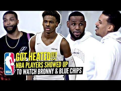 NBA Players Lined Up To Watch Bronny James HEATED GAME vs Tough Opponents w/ LeBron Coaching!!