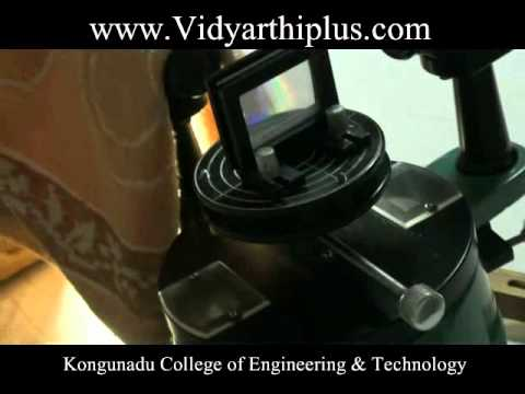 spectrometer - Anna University Physics Lab Experiments : spectrometer grating experiment - wavelength of mercury spectrum. Video Prepared by : Kongunadu College of Engineer...