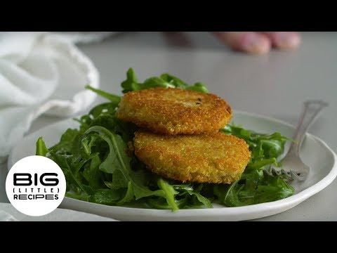 Cheesy Fritters & Simple Salad | Big Little Recipes