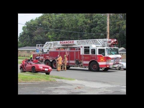 Roanoke City, Melrose - Hit and Run - MVC - Onscene - 6/18/12
