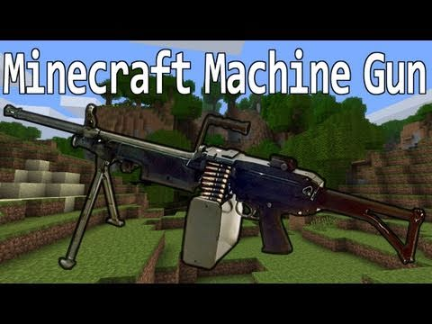 Minecraft - Machinegun and Grenade Mining. Video