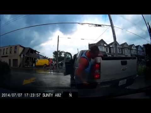 Failed insurance scam fraud fail dashcam dash cam car crash accident Hamilton Canada scams attempt
