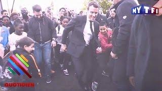 Video Macron vise la lucarne à Sarcelles - Quotidien du 28 Avril 2017 MP3, 3GP, MP4, WEBM, AVI, FLV Mei 2017
