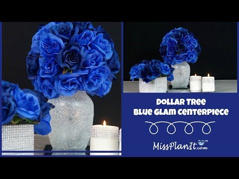 Dollar Tree Inspired Blue Glam Centerpiece | DIY Budget Decor | DIY Tutorial