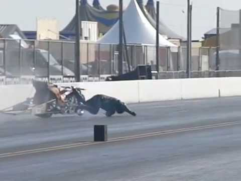 Steve Carey's bike crash caught in slow motion