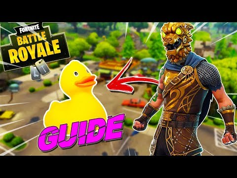 GUIDE TO ALL RUBBER DUCKIES LOCATIONS !! - FORTNITE SEASON 4 BATTLE ROYALE