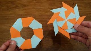 Video How To Make a Paper Transforming Ninja Star - Origami MP3, 3GP, MP4, WEBM, AVI, FLV Mei 2017