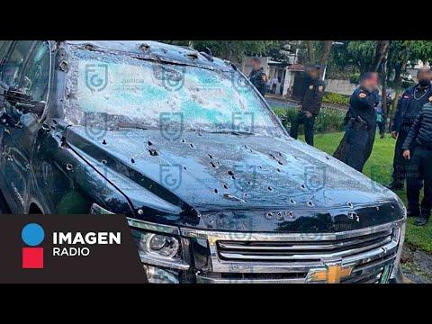 Este es el blindaje que resistió la camioneta de García Harfuch durante el atentado