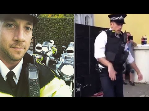 Der tanzende Polizist
