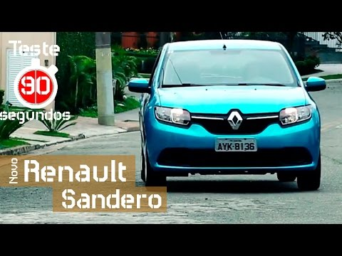 Novo Renault Sandero 1.6 prova que est� melhor em 90 segundos