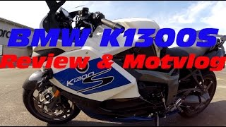 1. BMW K1300S HP: Review, Motovlog and ZX14R & Hyabusa racing!