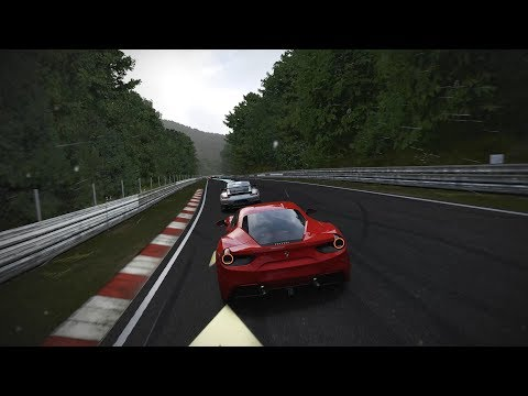 FORZA MOTORSPORT 7 - Ferrari 488 on Nürburgring (Rain) | +Replay (Ultra Settings) (2160p 60fps)