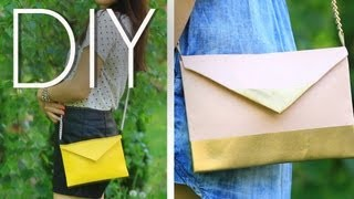 DIY EASY No Sew Cute Cross Body Mini Purse/Clutch {How to MAKE} - YouTube