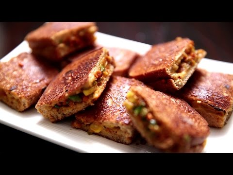 Mini Veg Cheese Sandwich | Easy To Make Snack Recipe | Ruchi's Kitchen