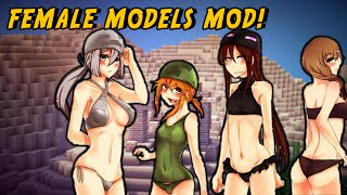 Minecraft Mods - SEXY GIRLS MOD (Cute Female Mobs!)