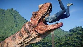 I made a walk-in Dinosaur Exhibit in Jurassic World Evolution