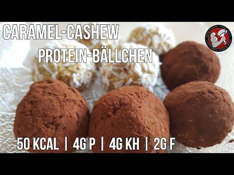 Karamell Cashew Protein Bällchen | Eiweiß Snack