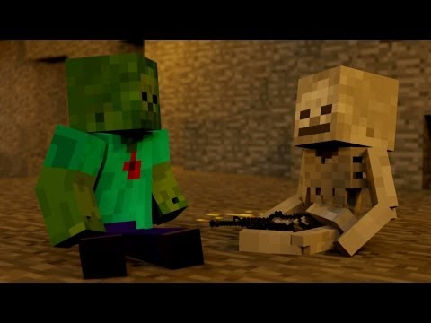 SkeleGUN & ZOMBIE - Minecraft Animation