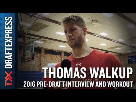 Thomas Walkup NBA Pro Day Workout and Interview