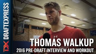 Thomas Walkup NBA Pro Day Workout and Interview