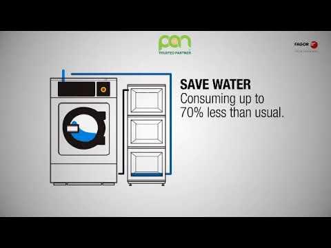 Hệ thống giặt tiết kiệm 70% nước của Fagor