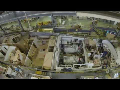 Time lapse of hull number 92104 of a Viking 92 On the Production Line