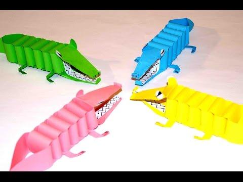 как сделать крокодила из бумаге