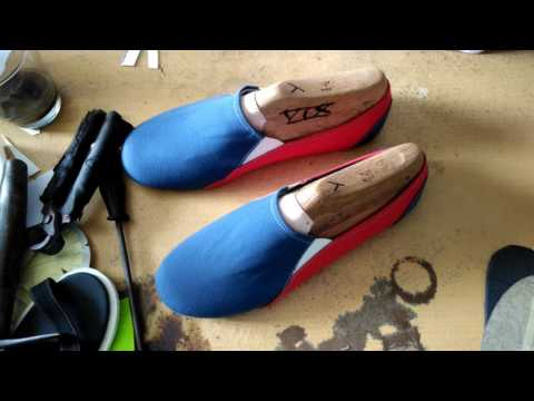 D.I.Y slip on shoes project part2 (insole | lasting | outsole)