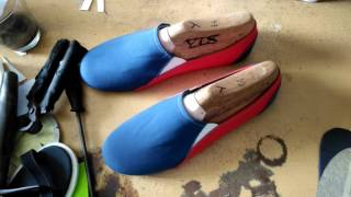 Video D.I.Y slip on shoes project part2 (insole | lasting | outsole) MP3, 3GP, MP4, WEBM, AVI, FLV Juni 2019
