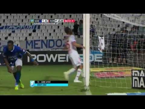 Gol de Ayoví. Godoy Cruz 1 – Huracán 0. Fecha 3. Primera División 2015. FPT.