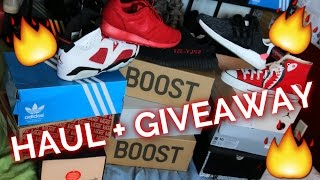 HUGE SNEAKER HAUL! We got 16 news pairs in the last 2 months. Air Jordan Pickups, Yeezy Pickups, Adidas Pickups and more! Enter the giveaway FOR FREE RED OCT...