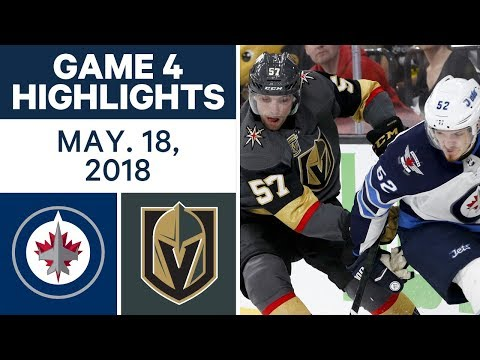 NHL Highlights | Jets vs. Golden Knights, Game 4 - May 18, 2018 (видео)