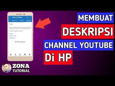 Cara Membuat Deskripsi Channel Youtube