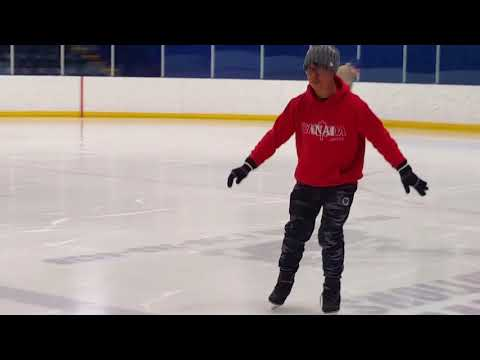 Indoor Skating in Frank Lacroix Arena Fort McMurray Canada