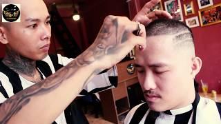 Huỳnh James có mái tóc cực chất khi đến Tú BarberShop