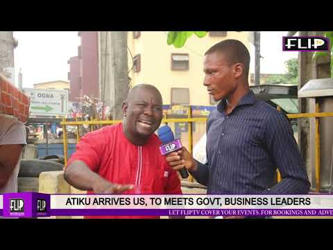 Download ATIKU ARRIVES US,  MEETS GOVT, BUSINESS LEADERS