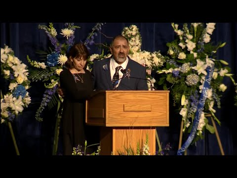 Raw Video: Officer Natalie Corona's Father Speaks At Memorial