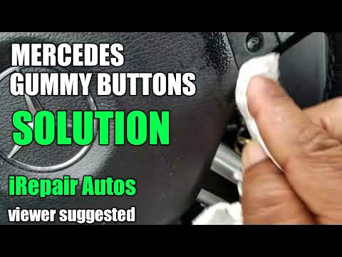 Mercedes Steering Wheel Sticky Buttons Cleanup DIY