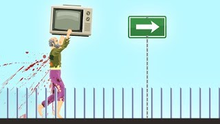 CARRY THE TV FOR 10KM CHALLENGE! (Happy Wheels)