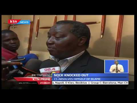 NOCK knocked out by Sports CS Hassan Wario