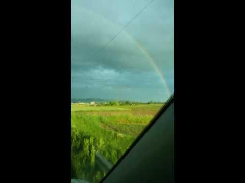 Cortona e l'arcobaleno