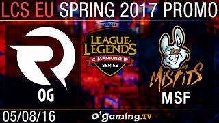 Origen vs Misfits - Promotion Tournament Spring 2017 - Qualifying Round