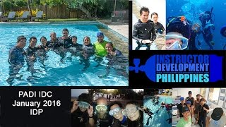The IDC movie: PADI IDC at Atmosphere January 2016
