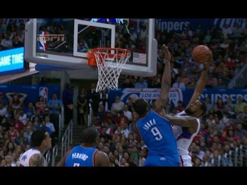 Battle of the Giants: DeAndre Jordan posterizes Serge Ibaka with a nasty dunk