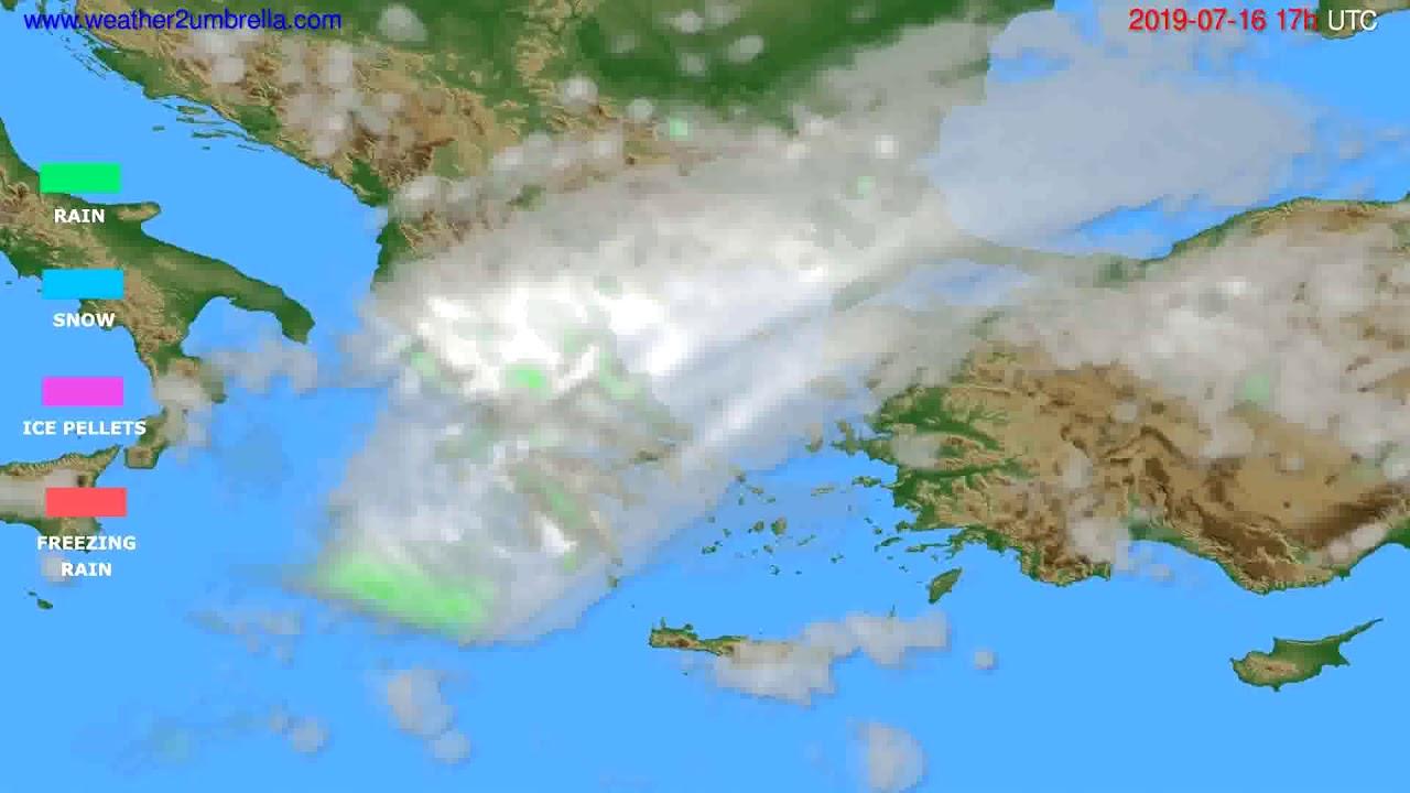 Precipitation forecast Greece // modelrun: 00h UTC 2019-07-15