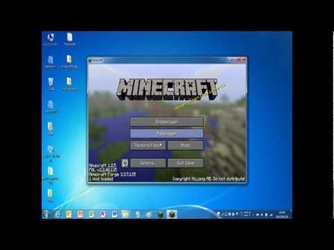 Windows7 minecraftforge導入方法 解説(?)動画