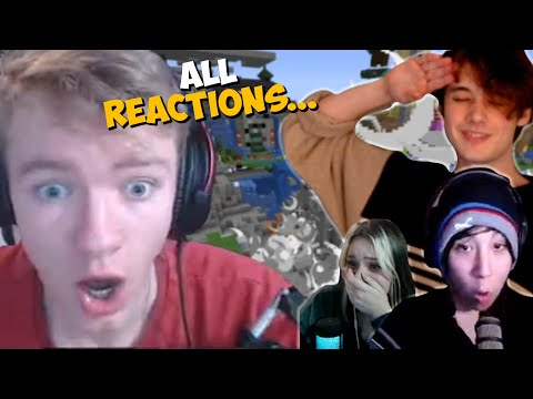 All Reactions Of Wilbur Blowing Up L'manburg During the War On Dream SMP