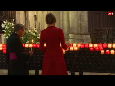 Melania Trump Prays to the Virgin Mary at Notre Dame Cathedral